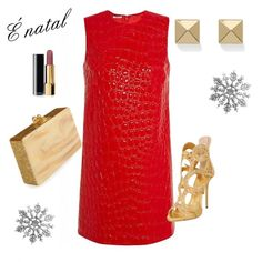 é natal by modochique on Polyvore featuring polyvore fashion style Giuseppe Zanotti Edie Parker Palm Beach Jewelry Chanel
