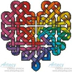 free irish cross stitch designs | Cross Stitch. (Original Heart design was created from the Celtic ...