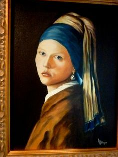 Girl With the Pearl Earring Encore by Linda by SEAFOAMGALLERY