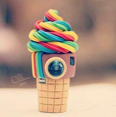 Instagood colorful ice cream cake
