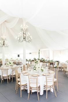 Neutral and Elegant Tented Wedding Reception, Tented Wedding Ideas, Draped Ceiling Wedding Decor | ElegantWedding.ca #reception #tentedwedding