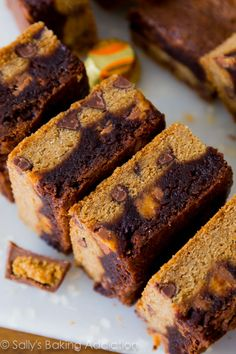 Chocolate Chip Cookies, plus fudgy brownies, and peanut butter cups make these outrageous goodies the ultimate dessert bar!