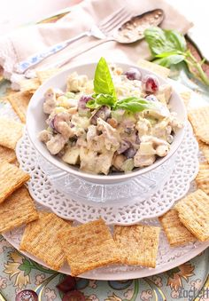 ... chicken salad for one is packed with flavor and crunch filled with