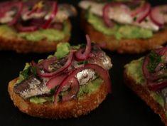 Crostini cu avocado si sardine Ricotta, Avocado Toast, Breakfast, Food, Hoods, Meals