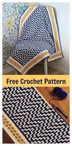 Crochet Afghan Patterns One Step Beyond Blanket Free Crochet Pattern Crochet Diy, Crochet Afghans, Beau Crochet, Crochet Gratis, Afghan Crochet Patterns, Crochet Home, Crochet Stitches, Knitting Patterns, Blanket Crochet