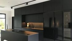 Black as the power to add refined sophistication to a room! Find some inspiratio Black Kitchen Add Black Find Inspiratio power Refined Room sophistication Black Kitchen Decor, Kitchen Room Design, Modern Kitchen Design, Home Decor Kitchen, Modern House Design, Modern Interior Design, Interior Design Living Room, Kitchen Ideas, Kitchen Trends