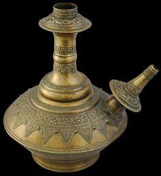 Brass Cast Kendi Minangkabau, Sumatra, Indonesia circa 1900