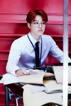 Jimin in glasses. Gets me every time