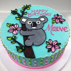 Buttercream Koala Birthday Cake