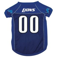 Detroit Lions Dog Jersey [DET-Jersey] - $29.95 : Old Timer Sanctuary, Helping shelters and rescues become more sustainable, for the latest NFL gear, apparel, collectibles, and merchandise for pets.