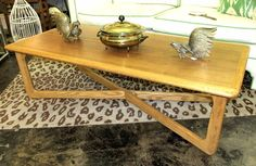 MCM Lane coffee table with X base, in great condition.