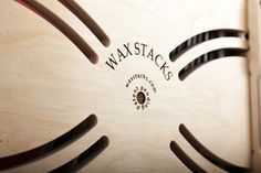Shield your eyes! Lasers were used in the making of our logo. Our logo adorn the bottom of every crate. Laser etch and beautiful. You'll see it when you want to and on the bottom panel it's out of the way if you don't. On Kickstarter now: waxstacks.com/ks
