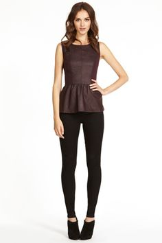 Faux Leather Peplum