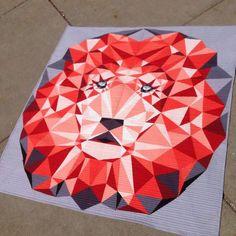 Violet Craft's lion quilt