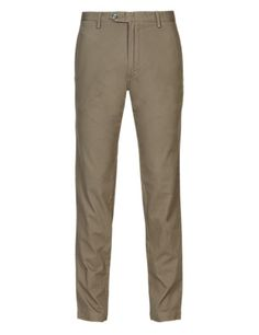 Cotton Rich Slim Fit Flat Front Chinos | M&S £19.99