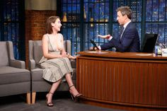 Alison Brie Takes the Plunge on Late Night with Seth Meyers