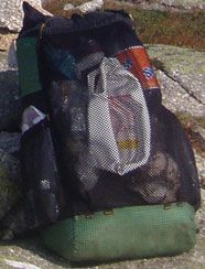 The Go-Lite 'Breeze':  At 13.1 oz. I used this backpack on my 2001 Pacific Crest Trail thru-hike, Mexico to Canada.