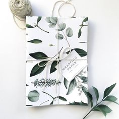 Botanical Christmas gift wrappin paper #ad