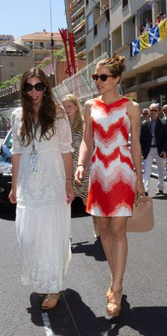 Tatiana Santo Domingo with Charlotte, the sister of her fiance, Andrea
