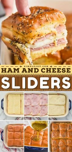 This contains: Ham and Cheese Sliders, game day food, football appetizers