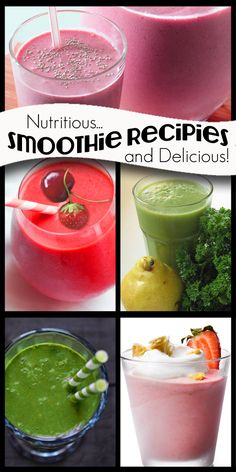 Healthy smoothies for a healthy new year! #smoothies howdoesshe.com