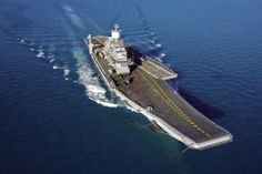 Indian Navy INS Vikramaditya,radically modified from the former Russian carrier Gorshkov. Indian Navy photo