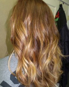 Copper blonde balayage ombre #vistabellesalon