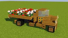 Chevrolet Farm Truck Minecraft Map Minecraft Cottage, Minecraft Garden, Minecraft Farm, Minecraft Plans, Minecraft Blueprints, Minecraft Bedroom, Minecraft Furniture, Ideas For Minecraft, Minecraft How To Build