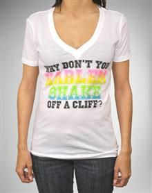''Why Don't You Harlem Shake...' V-Neck Junior Fitted Tee