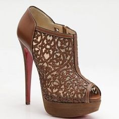 Fancy - Christian Louboutin Pampas Boot laser cutout bootie