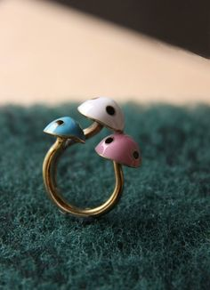 Mushroom ring....only on etsy can you find things this cool!