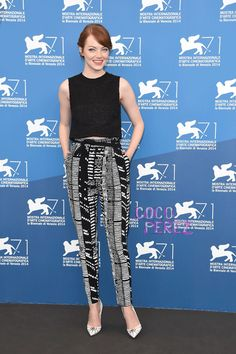 Emma Stone Chics Out In Black & White At The Venice Film Festival