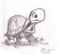The Ol' Sketchbook: Cute Turtle