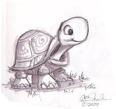 The Ol' Sketchbook: Cute Turtle