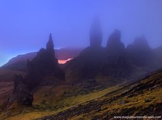 Eye of the Dragon Isle of Skye The witching hour on the Isle of Skye, a land of sorcery, druids, fairy tale creatures and dragons.