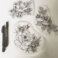 Botanical tattoo designs - essi tattoo #botanical #flower #ink #drawing #tattoodesign #tattooart #illustration #art #instaartist
