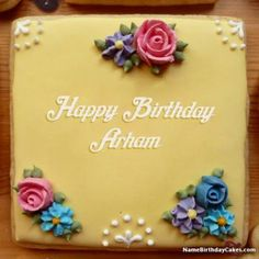 A new way to wish birthday online to friends and relatives. Generate birthday cake images with name and photo of your loved ones. Wish birthday in a new and special way. Birthday Cake For Father, Birthday Cake Write Name, Birthday Card With Name, Birthday Cake Writing, Birthday Wishes Cake, Birthday Cake With Flowers, Cake Name, Birthday Cards, Funny Happy Birthday Song