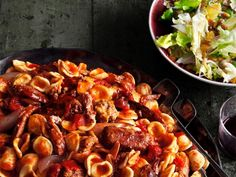 When making Sunday Meat Sauce, pair it with orecchiette instead of spaghetti; the small bowl shape makes it easier for the sauce to cling on and is much easier to serve than long noodles.