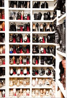 So many Christian Louboutins.