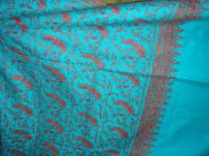 hand needle worked pure pashmina  shawls, scarfs for sale if anybody intrested call me or whats app me on this number +91 9086693168 or send me mail on this emale id : shahmuneer97@gmail.com