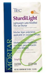 TEC- SturdiLight Lightweight, Latex Modified Thin Set Mortar | Polymer Modified Mortars l Floor Covering Installation Supplies l The Source Company www.thesourcecompany.com