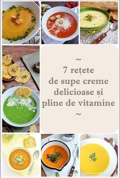 7 rețete de supe cremă delicioase şi uşor de făcut Baby Food Recipes, Diet Recipes, Cooking Recipes, Healthy Recipes, Smoothie Fruit, Romanian Food, Health Eating, Diet And Nutrition, Raw Vegan