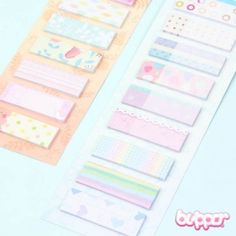 Pastel Note Sticker Set - Kawaii Stickers - Stationery | Blippo Kawaii Shop