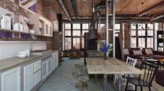 #Cocinas de estilo industrial.