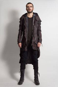 Incarnation - lined hand dyed mods deer leather coat