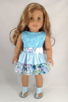 18T Sweet & Sassy Dress and Sandals for American Girl Like