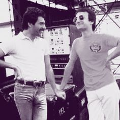 """freddiefuckingmercury: """" Happy birthday to Queen bassist, John Deacon! """" """"He's sort of quiet, lots of people think that. Don't underestimate him, he's got a fiery streak underneath all that. I talk so much anyway, he'd like to let me do all the..."""