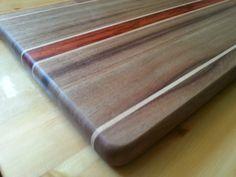 Cutting board, chopping block Maple, Wood Edge Grain Cutting Board Custom Walnut Cutting Board, Modern Wedding Gift Idea - pinned by pin4etsy.com