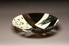 Glass bowl, fab processes. Crows by ramoreydesign