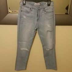 Lucky Brand Jeans Lucky Brand Jeans with holes. Like new. Worn once Lucky Brand Pants